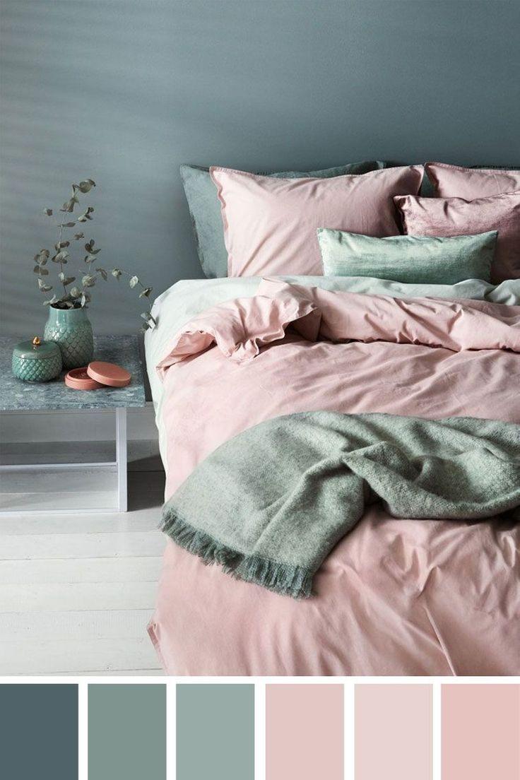 Bedroom Color Scheme Pink Duvet Cover Bed Sheet Bedding In 2020