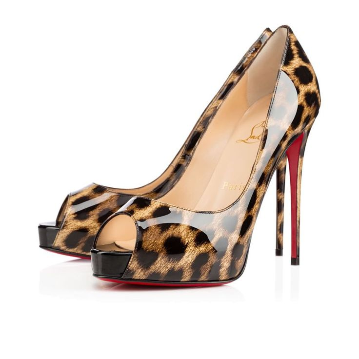 Christian Louboutin New Very Prive Vernis Leopard 120 Mm Officiel Pour  Femme MARRON/NOIR - 1506060498 - Officiel Christian Louboutin Distributeur  France ...
