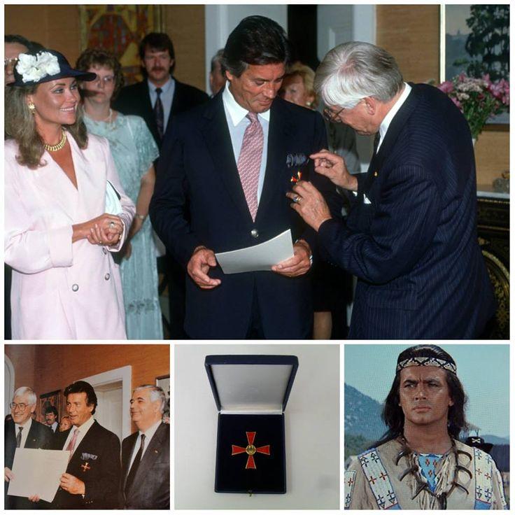 """Pierre Brice oceněn vyznamenáním """" Spolkovým křížem za zásluhy I.třídy"""".  Pierre kdysi řekl """"Tolerance pro mne znamená hodně. V dnešní době vše zlé se děje proto, že je nedostatek tolerance"""".  Dnes je tomu 24 let (10. července roku 1992) co předává ministr Christian Schwarz-Schilling na zámku Ernich Pierrovi vyznamenání """"Spolkového kříže za zásluhy I.třídy (Bundesverdienstkreuz 1. Klasse)"""", které získává za své celoživotní dílo a postoje. Pierre Brice po dobu 30let předával, takové hodnoty…"""