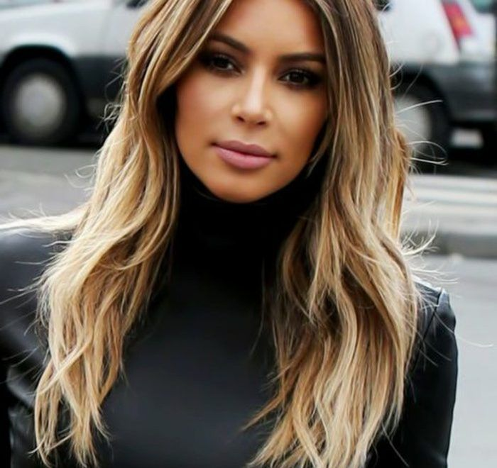 Balayage Cheveux Noir Meche Blonde Haar Kleuring