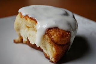 America's Test Kitchen's quick cinnamon rolls. Love these. They are just as good as the yeasted cinnamon rolls by take 1/3 the time.