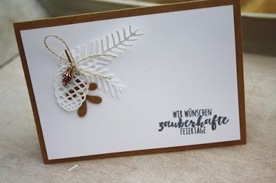 Danielas Stempelwelt: Christmas Stampin Up Pretty Pines Thinlits, Pine Bough TIEF, Mini Pinecones