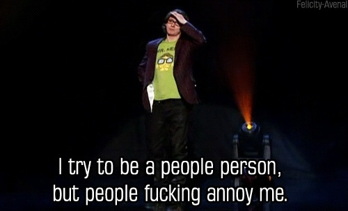 Ed Byrne - pure genius, a very funny man.
