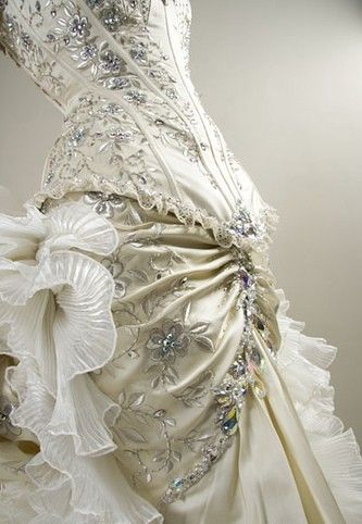 The embellishing is absolutely gorgeous, but maybe a lot too much for my tastes.