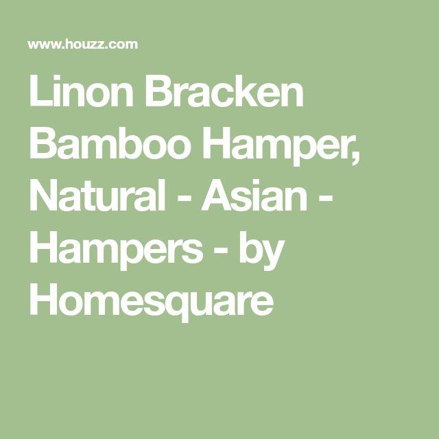 Linon Bracken Bamboo Hamper, Natural - Asian - Hampers - by Homesquare