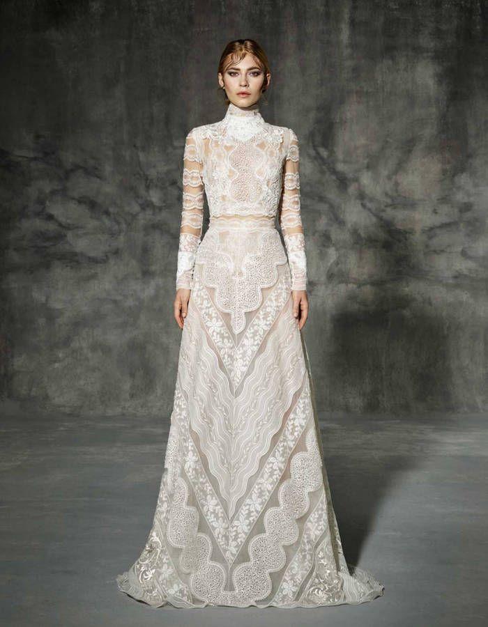 Robe de mariée d'hiver en dentelle - 22 robes de mariée d'hiver éblouissantes - Elle