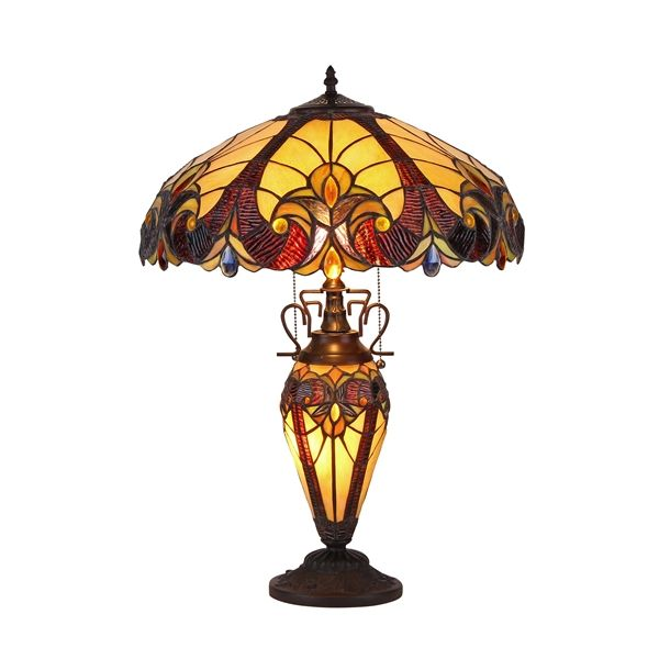 Shop Chloe Lighting Victorian Tiffany Style Double Lit Table Lamp At Loweu0027s  Canada. Find Our Selection Of Table Lamps At The Lowest Price Guaranteed  With ...