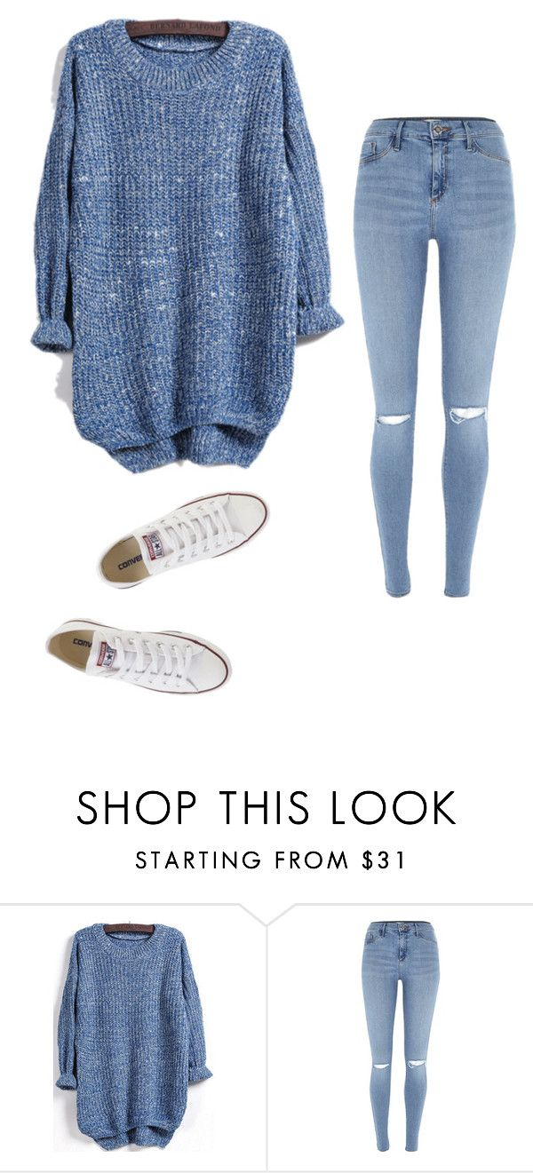 """Untitled #23"" by ijeomaokeke ❤ liked on Polyvore featuring River Island and Converse"