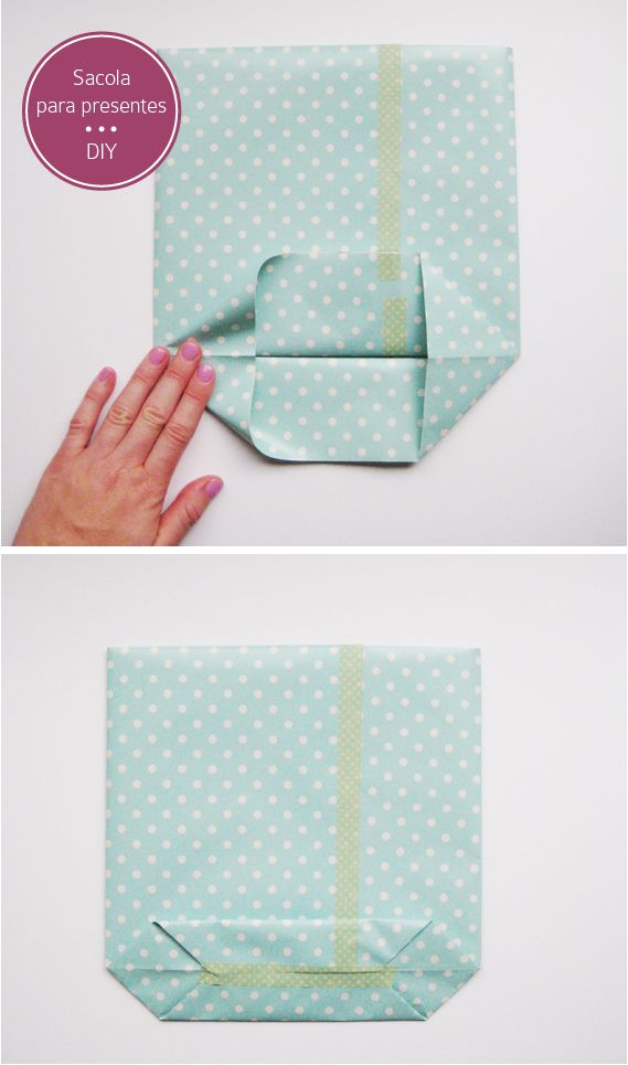 DIY gift bags - instructions not in English, but the pictures suffice