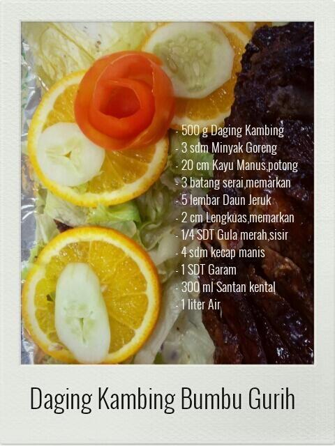 Daging Kambing Bumbu Gurih.