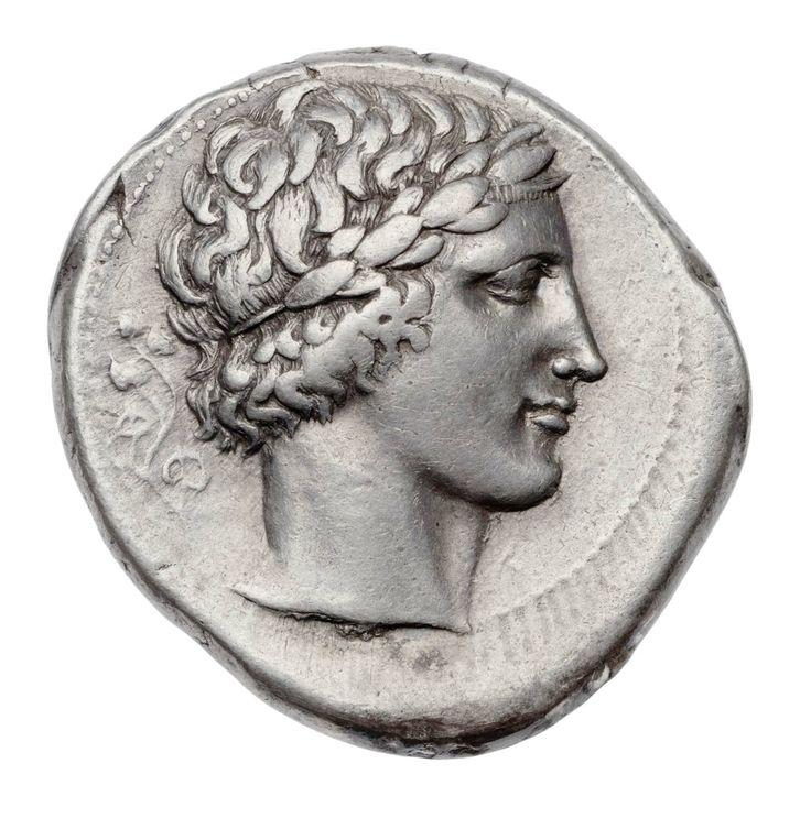 Tetradracma - argento - Leontinoi (Lentini) Sicilia (466-422 a.C.) - Apollo di profilo vs.dx. con corona di alloro su corti riccioli - Museum of Fine Arts, Boston