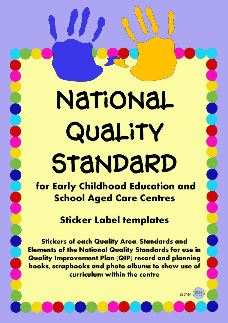 National Quality Standards Stickers or Labels for use in Early Years EYLF and School Aged Care, OSHC, OOSHC, OOSH, MTOP centres in planning, documenting, Quality Improvement Plans and recording. by KR Learning