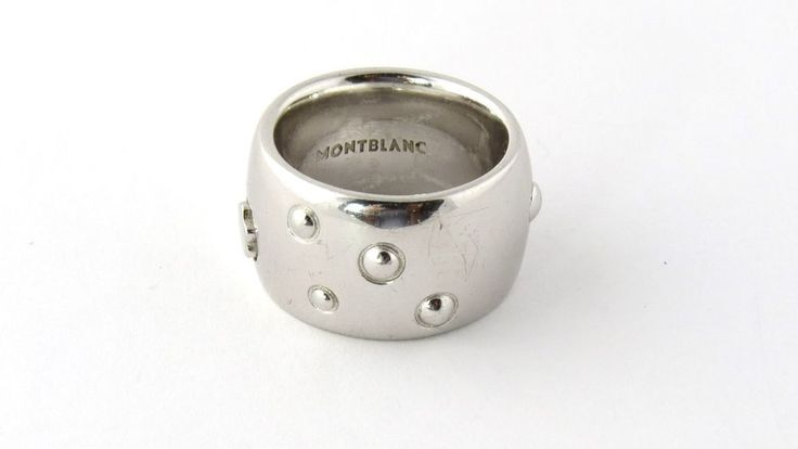 Montblanc Sterling Silver Ring Band Thick Size 6.25 #Montblanc #Band
