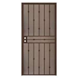 Cabo bella 32 in x 80 in copper security screen door - Unique home designs security screen doors ...