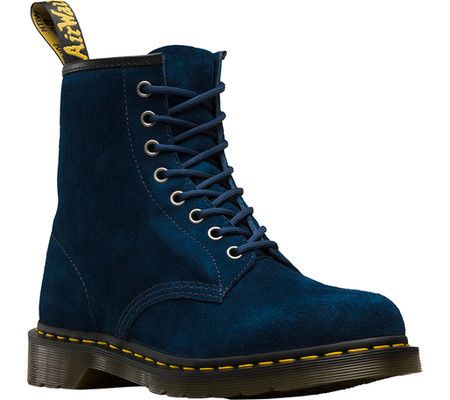 Dr. Martens 1460 8-Eye Boot - Indigo Soft Buck Nubuck Leather with FREE Shipping & Exchanges. When you think of Dr. Martens you think of the 1460 8-Eye Boot. This style icon includes all of the