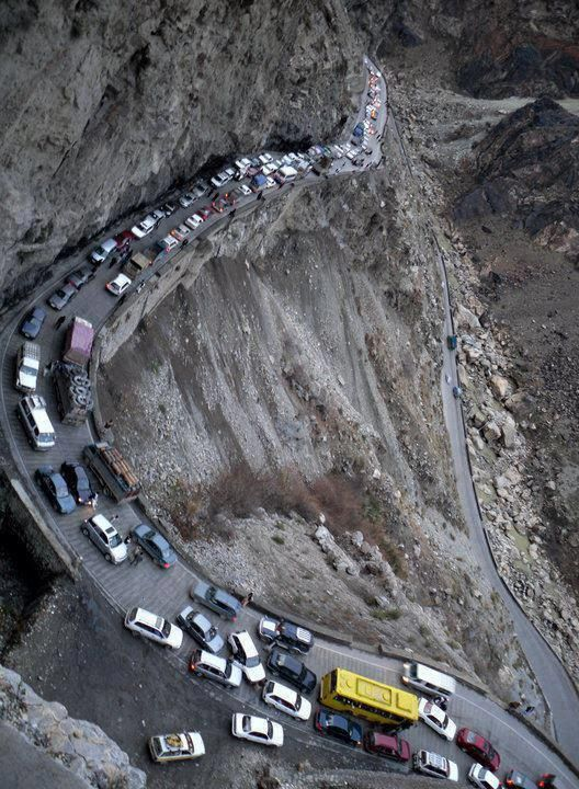 most deadliest road in India, situated near Chamoli district in uttarakhand