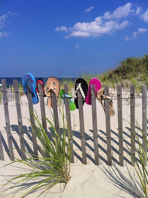 The beach and flip flops...LOVE
