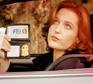 Agent Dana Scully (actress: Gillian Anderson) from The X-Files television series.