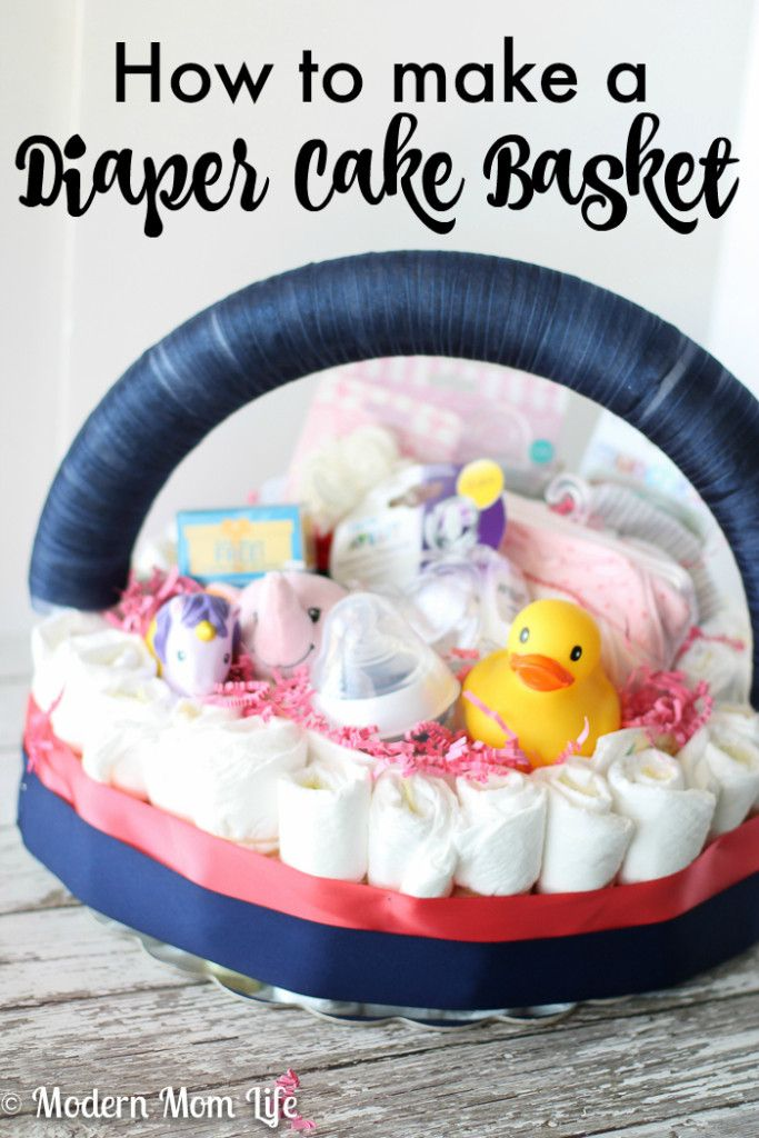 Make Your Own Baby Gift Basket Ideas : Best diaper cake basket ideas on how to