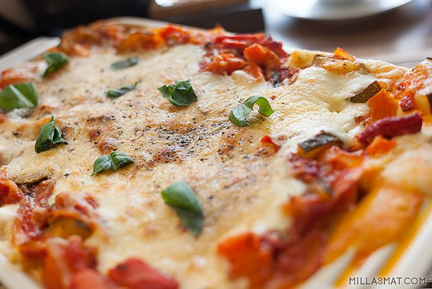 Vegetarlasagne med ostesaus | Millas Mat
