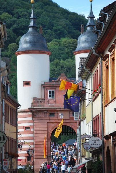 Entrance to Old Bridge (Carl Theodor Bridge) in Heidelberg, Germany • Been there!