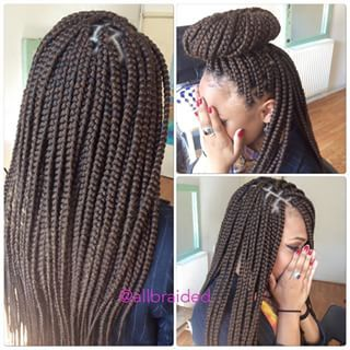 medium box braids -