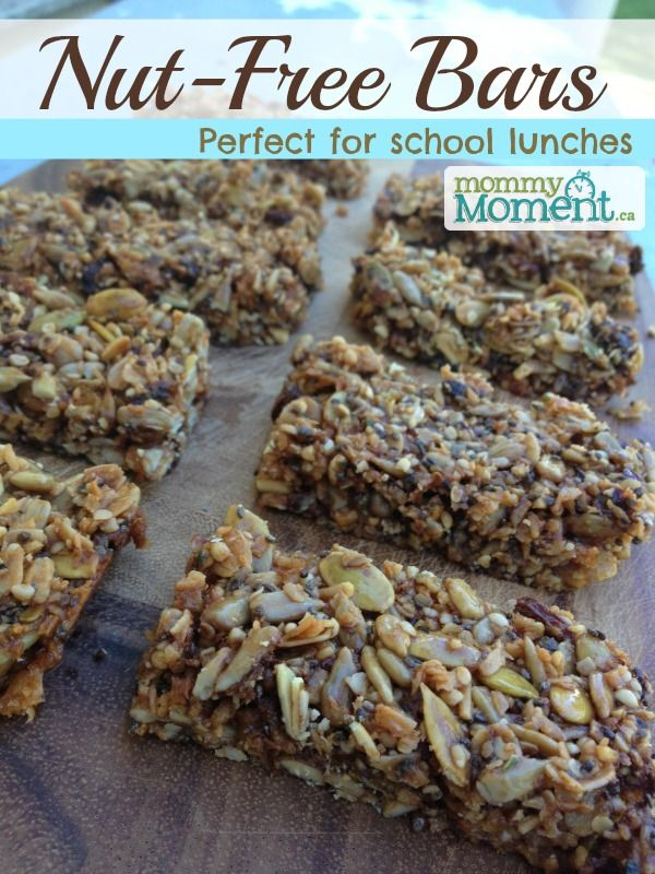 Nut-Free Bars perfect for school lunches. Gluten-Free, Dairy-Free & Nut-Free.