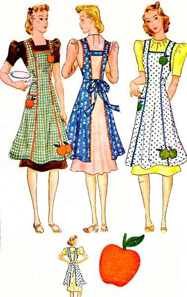 McCall's 726 c.1933 misses apron with applique. Click on broken link for pattern pieces