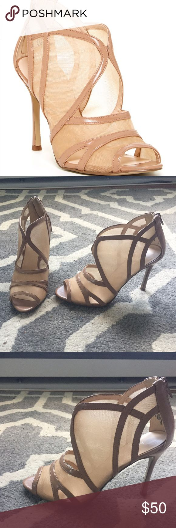 NINE WEST NUDE MESH HEELS SIZE 6 Nine West heels in nude. Size 6. Previously worn in great condition Nine West Shoes Heels