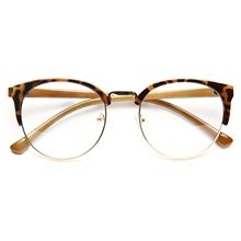 Leslie Thin Round Clear Glasses - Brown Tortoise non-prescription clear glasses…