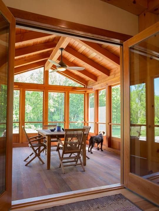 72 best our log home sunroom images on pinterest for Enclosed porches and sunrooms