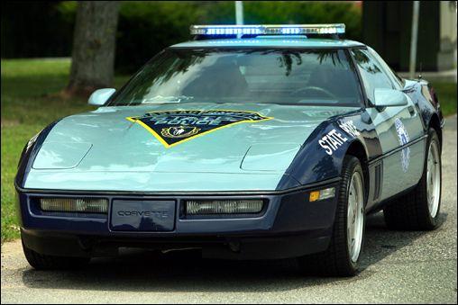 Massachusetts state police corvette