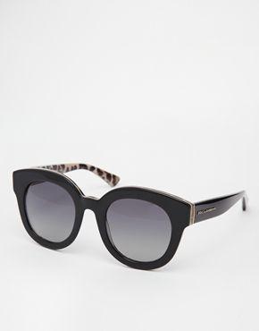 Dolce+&+Gabbana+Oversized+Polarised+Sunglasses