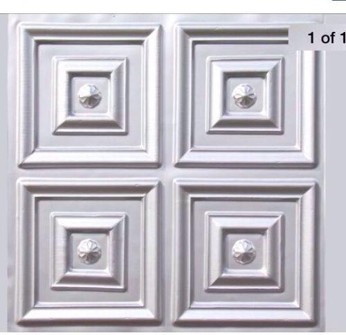 2x2-Ceiling-Tile-Faux-Tin-PVC-Vinyl-Silver-Glue-Up-Direct-Mount-112---------- $6.99
