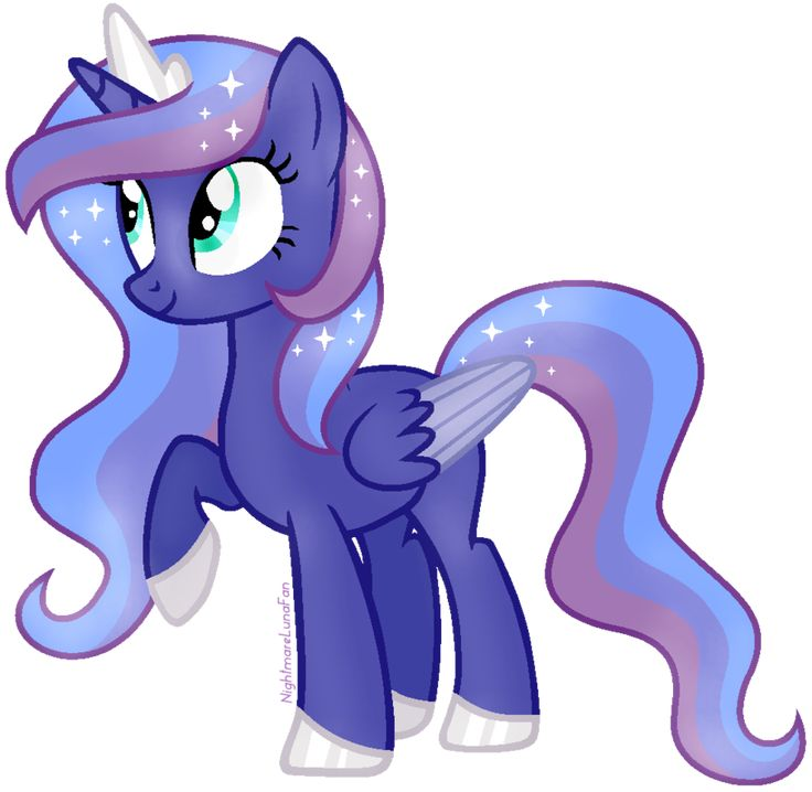 Lunar rain. She is a beautiful alicorn and loves the moon and anything blue.