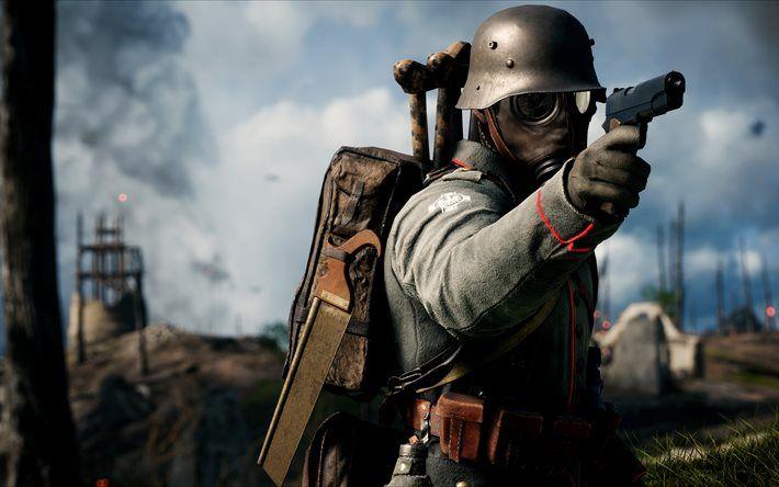 Battlefield 1, soldier, shooter, 2016, 5k