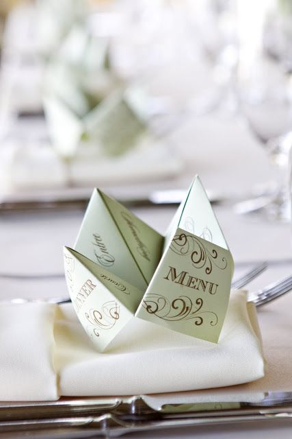 {It's in the Details} Cootie Catcher Menus - Oh Lovely Day