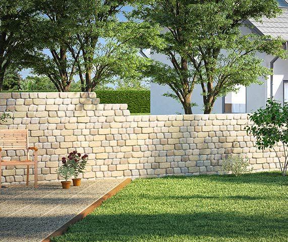 gartenmauer ganz einfach selber bauen garten. Black Bedroom Furniture Sets. Home Design Ideas