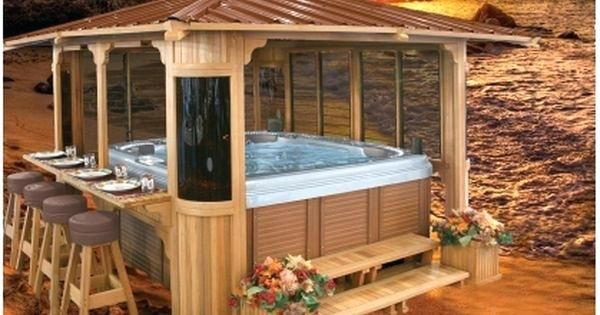 Hot Tub Decorating Ideas Best Hot Tub Gazebo Ideas On Hot Tub