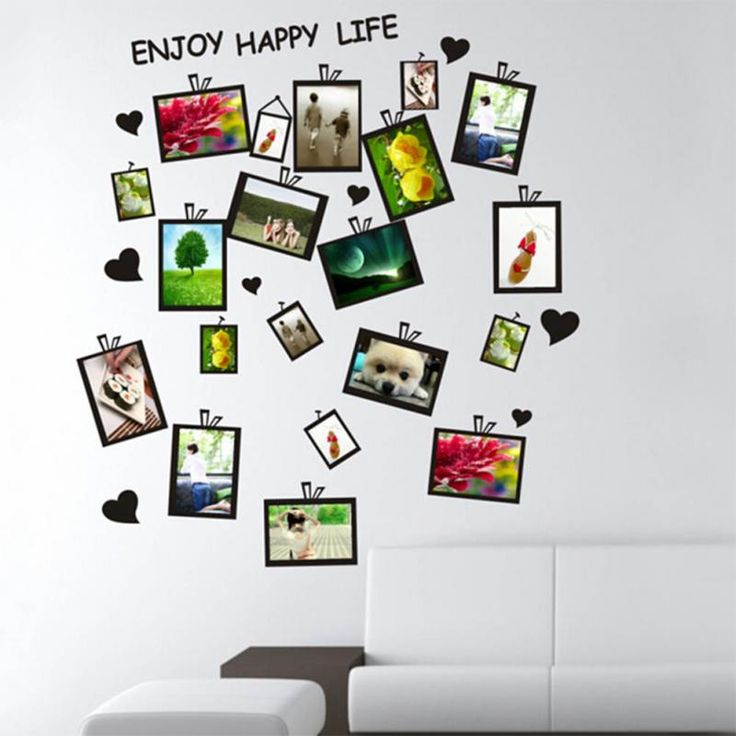 Picture Photo Frame Set Wall Sticker Decal Decor Home Room Office Art DIY Black Gift