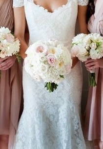Pink Garden Rose And Hydrangea Bouquet 87 best peachy pink wedding images on pinterest | flower