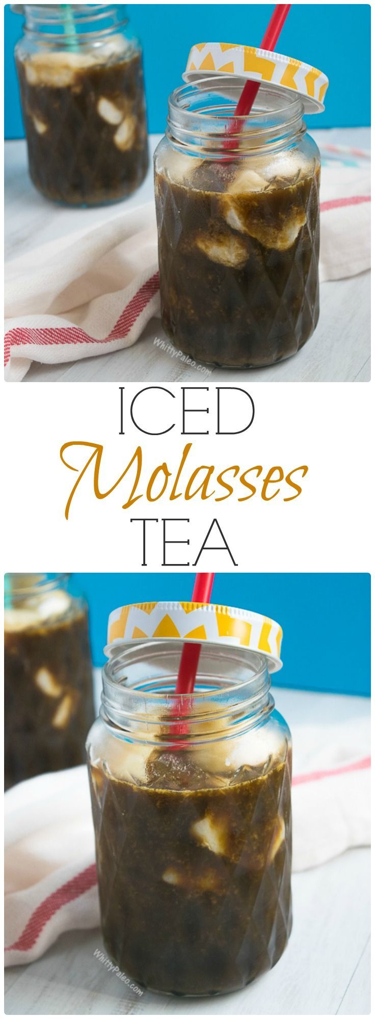 Organic Blackstrap Molasses Iced Tea + Health Benefits from WhittyPaleo.com