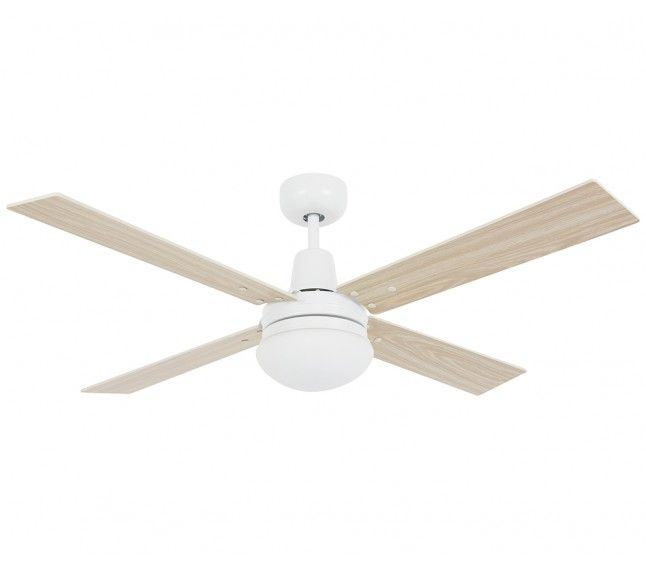 Airfusion Quest II 132cm Fan with Light in White - Ceiling Fans With Lights - AC Fans - Products