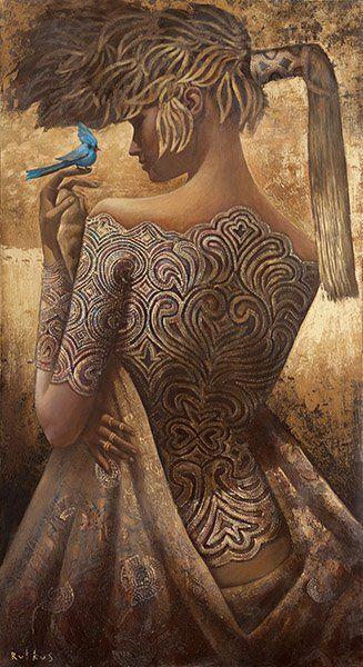 Russian Painter-Arunas RutkusArtists, Rutkusartpaintingblu Birdgirl, Post, Art Paintings, Painteraruna Rutkus, Arunas Rutkus Art Painting Blu, Costumes Design, Arunas Rutkusartpaintingblu, Birds