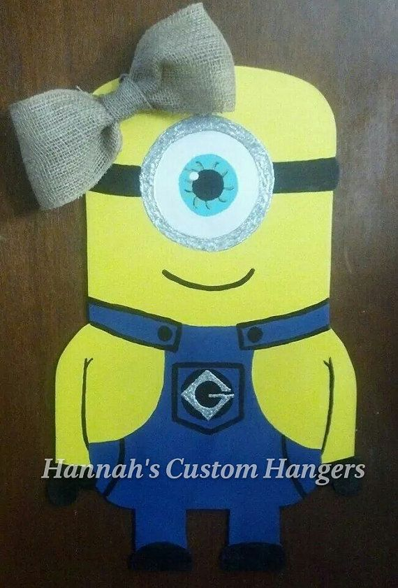Hey, I found this really awesome Etsy listing at https://www.etsy.com/listing/216999133/large-23-25-h-minion-character-door minion door hanger from despicable me