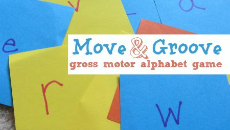 Gross motor letter recognition game. Great for kinesthetic learners.