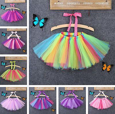 0-8Y Děti Dívky dítě Tutu Party Balet Taneční oblečení sukně Pettiskirt Kostým