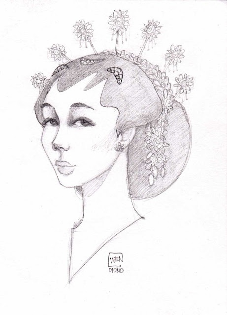 Found this lovely artwork of Javanese bride by moodylicious-wen