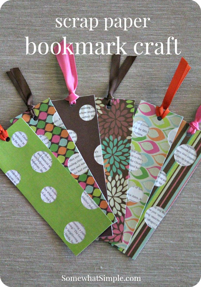 scrap paper bookmark craft - great summer reading project idea!