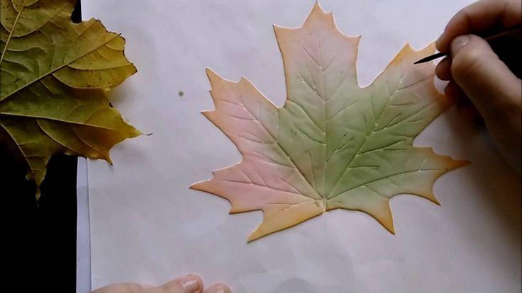 МК Кленовый лист из фоамирана. Автор: Козьякова Юлия .
